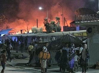 Midilli adasındaki mülteci kampında çıkan yangın ile ilgili 6 kişi tutuklandı
