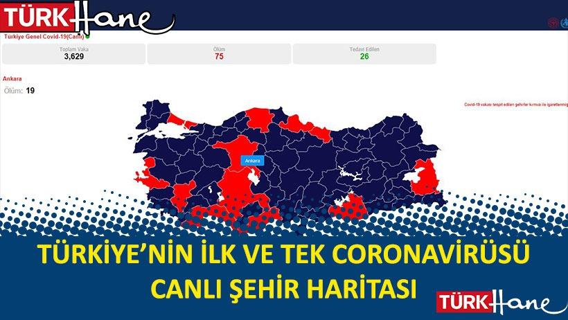 Türkiye'nin İlk ve Tek Coronavirüs Canlı Şehir Haritası!