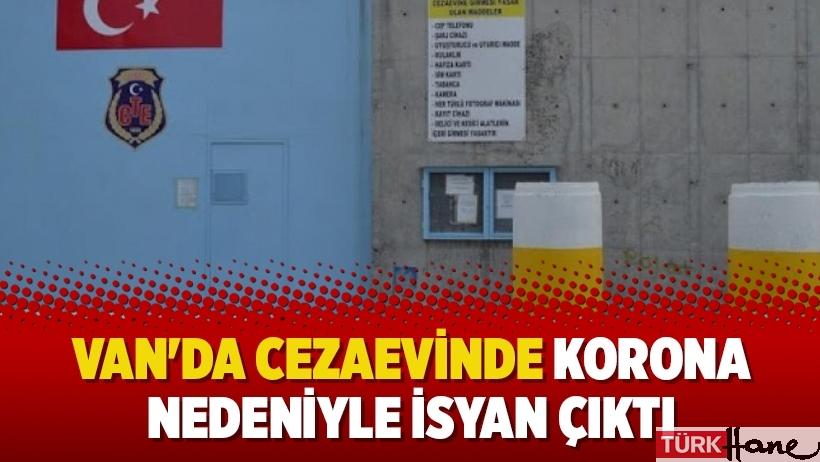 Van'da cezaevinde korona nedeniyle isyan çıktı