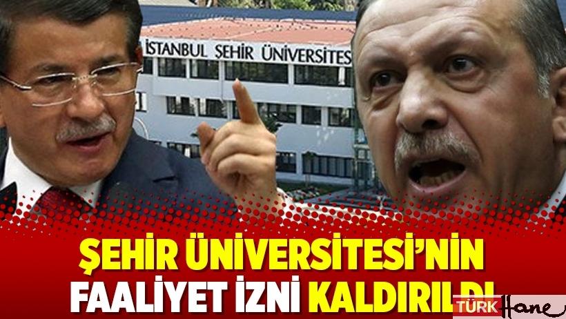 Şehir Üniversitesi'nin faaliyet izni kaldırıldı