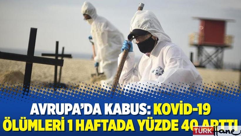 Avrupa'da kabus: Kovid-19 ölümleri 1 haftada yüzde 40 arttı