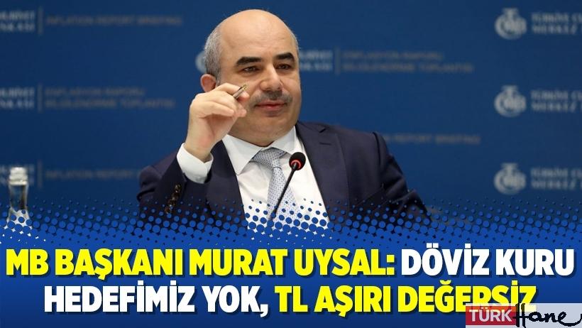 MB Başkanı Murat Uysal: Döviz kuru hedefimiz yok, TL aşırı değersiz