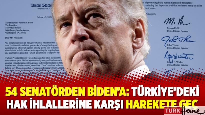 54 senatörden Biden'a: Türkiye'deki hak ihlallerine karşı harekete geç