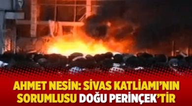 Ahmet Nesin: Sivas Katliamı'nın sorumlusu Doğu Perinçek'tir