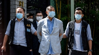 Hong Konglu muhalif medya patronu serbest bırakıldı