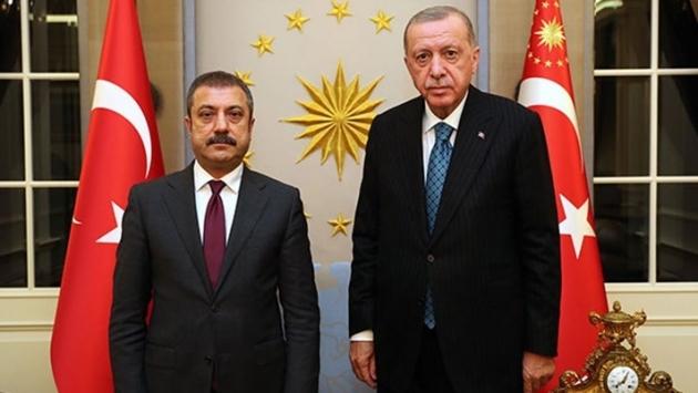 Erdoğan TCMB Başkanı Kavcıoğlu ile görüştü