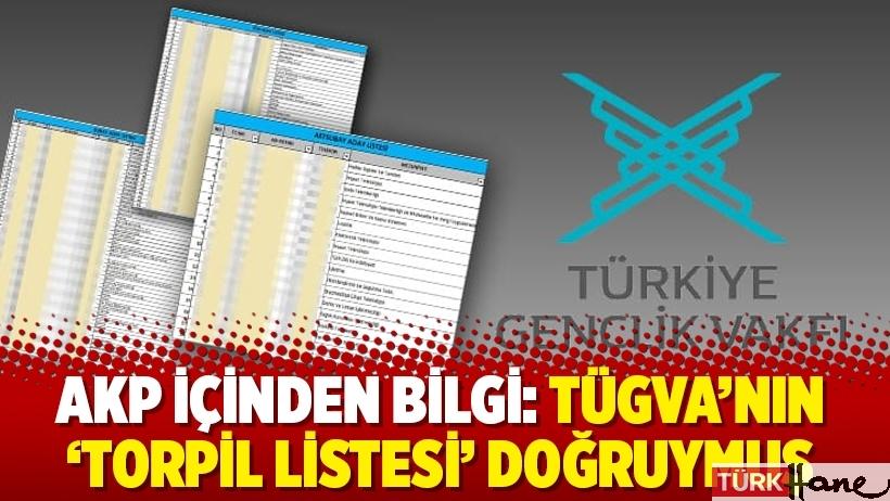 AKP içinden bilgi: TÜGVA'nın 'torpil listesi' doğruymuş